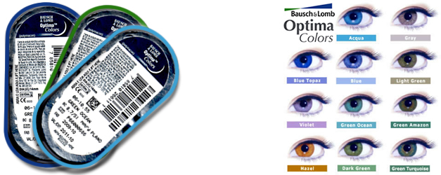 Bausch&Lomb Optima Colors Stokta!