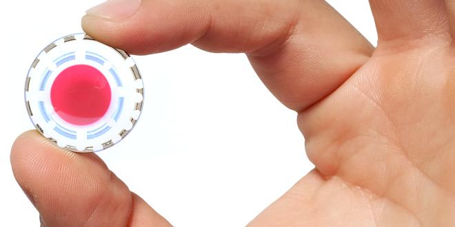 Akıllı kontakt lensle arttırılmış gerçeklik.